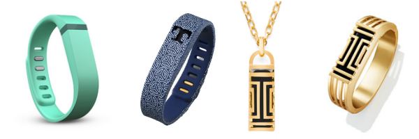 fitbit bands tory burch turqoise